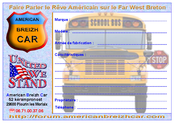 une fiche de pr sentation voiture forum american breizh car. Black Bedroom Furniture Sets. Home Design Ideas